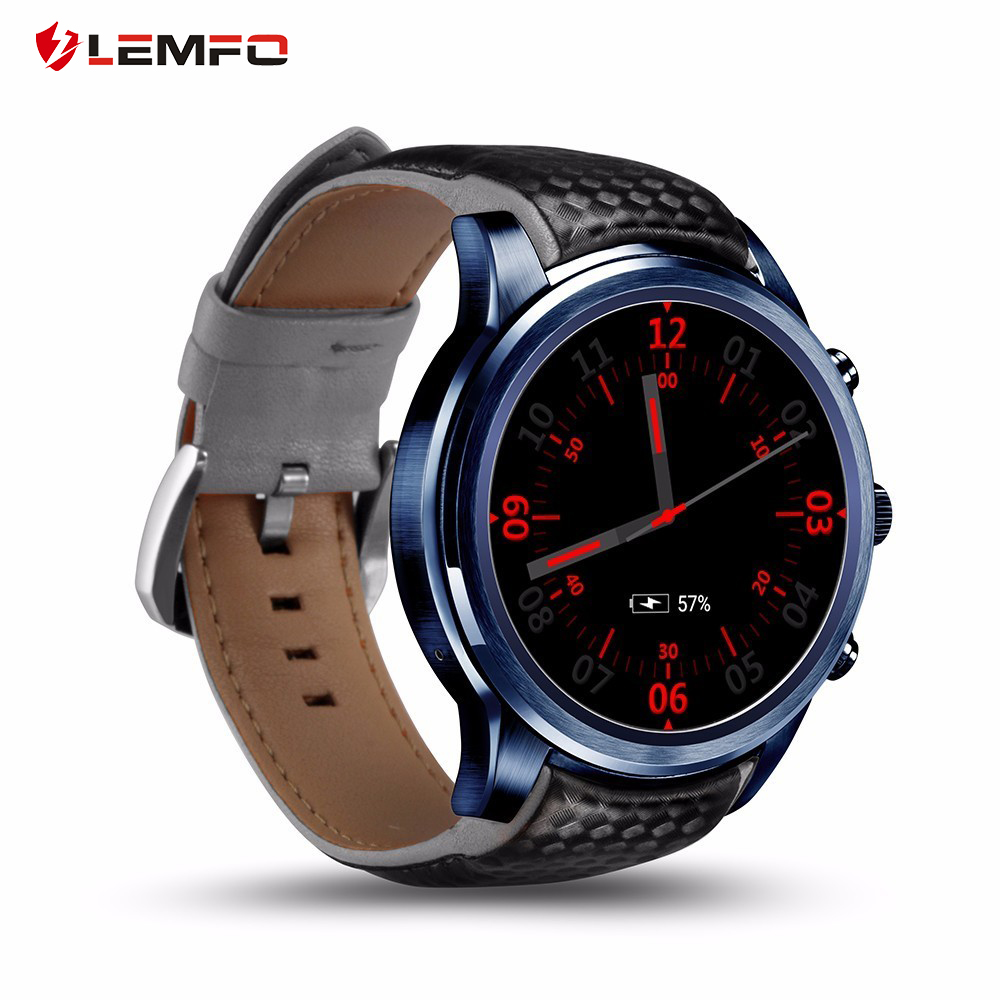Original LEMFO LEM5 Pro Smart Watch Phone Androd 5 1 2GB 16GB Support SIM Card GPS