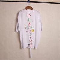 GD M.O.T.T.E concert PEACEMINUSONE graffiti smile face Shirt unisex T shirt PMO strap shirt top Fashion Tee
