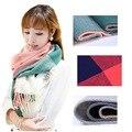 Winter Fashion Scarf Scarves Women's Plaid Scarf Acrylic Basic Shawls Warm 13 Colors