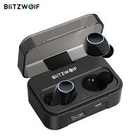 Blitzwolf BW-FYE3 Bluetooth с сенсорным управлением V5.0 TWS True беспроводные наушники HiFi стерео двусторонние звонки спортивные наушники гарнитуры