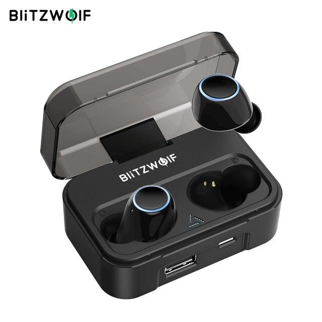 Blitzwolf BW-FYE3 dotykowy sterowania bluetooth V5.0 TWS prawdziwie bezprzewodowe słuchawki HiFi Stereo dwustronnych połączeń słuchawki sportowe słuchawki i zestawy słuchawkowe
