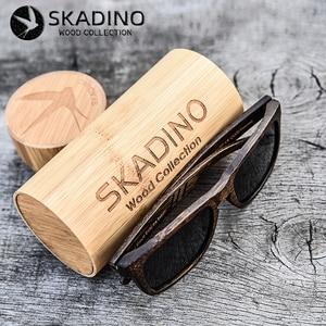 Image 2 - SKADINO gafas de sol polarizadas de madera de bambú para dama, lentes de sol polarizadas con protección UV400, a la moda, en color negro y gris, hechas a mano