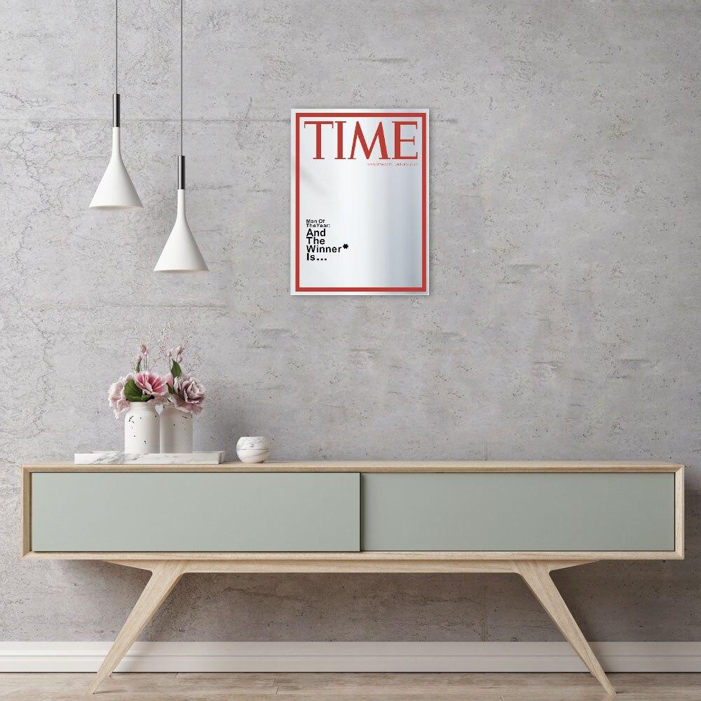 Time Magazine Cover Spiegel Man van het Jaar Opknoping Spiegel voor in jouw Mancave Thuis Bar Muur Decor  5
