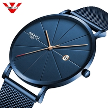 NIBOSI Ultra דק אופנה גברים שעון יוקרה למעלה מותג עסקים קוורץ שעונים עמיד למים ספורט שעון גברים שעון Relogio Masculino