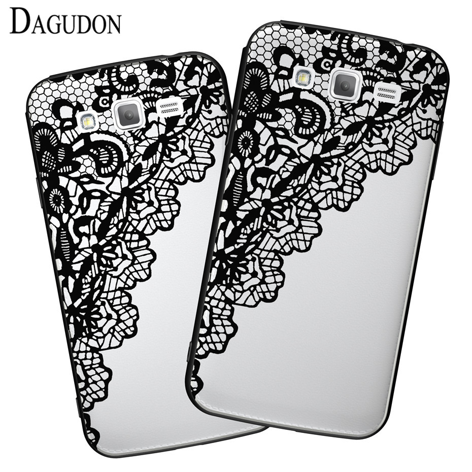 DAGUDON Clear <font><b>Case</b></font> For <font><b>Samsung</b></font> Galaxy <font><b>Grand</b></font> <font><b>2</b></font> Duos Luxury Sexy flower lace Hard PC Cover For <font><b>Samsung</b></font> <font><b>Grand</b></font> <font><b>2</b></font> Duos <font><b>G7102</b></font> <font><b>case</b></font> bag image