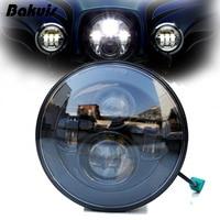 Bakuis 7 inch Daymaker Projector LED Headlamp Headlight Fits Harley 91 later FLS, FLSS, FLSTC, FLSTF, FLSTFB, FLSTFBS and FLSTN