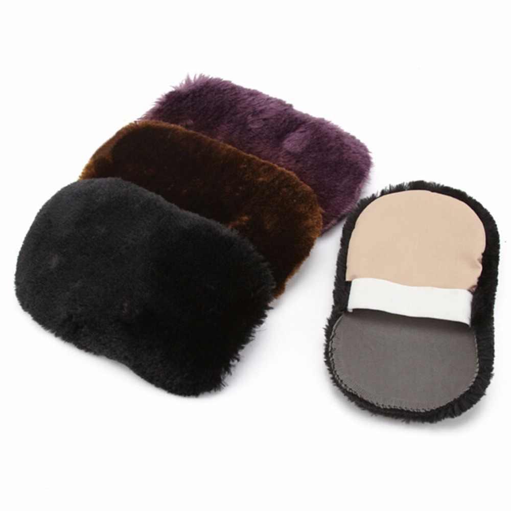 1 Pcs Aleatório Cores Suaves de Lã Polimento Sapatos Limpos Luvas de Limpeza da Sapata do Cuidado da Escova Limpar Sapatos Luva Por Atacado