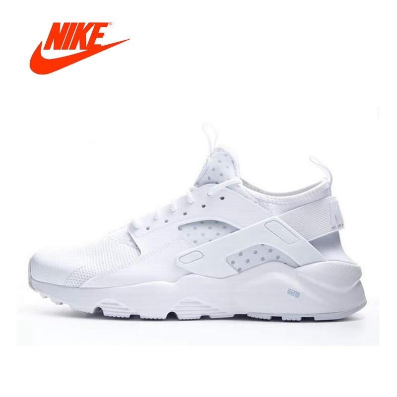 Intersport Original NIKE 2018 Summer AIR HUARACHE RUN ULTRA Men's Running Shoes Sneakers Breathable sport shoes men men's tennis meri huarache shoes