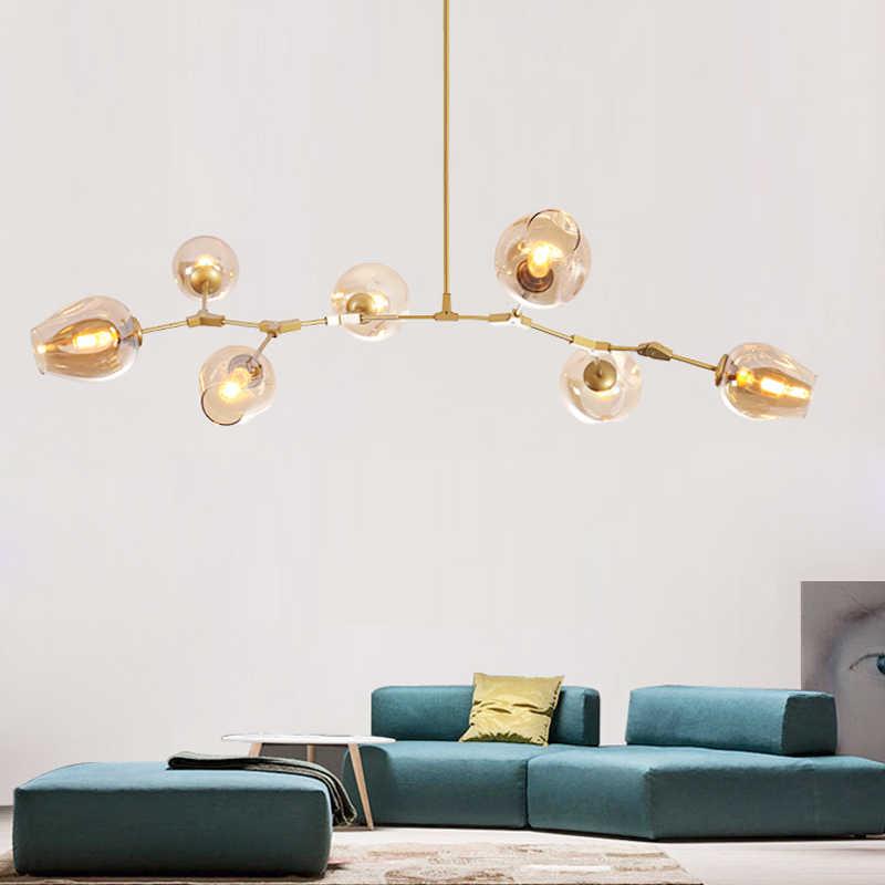 Дизайнерский Глобус люстры огни для гостиной черный/золотой корпус люстры лампа с вариантами цвета стекло освещение для кухни