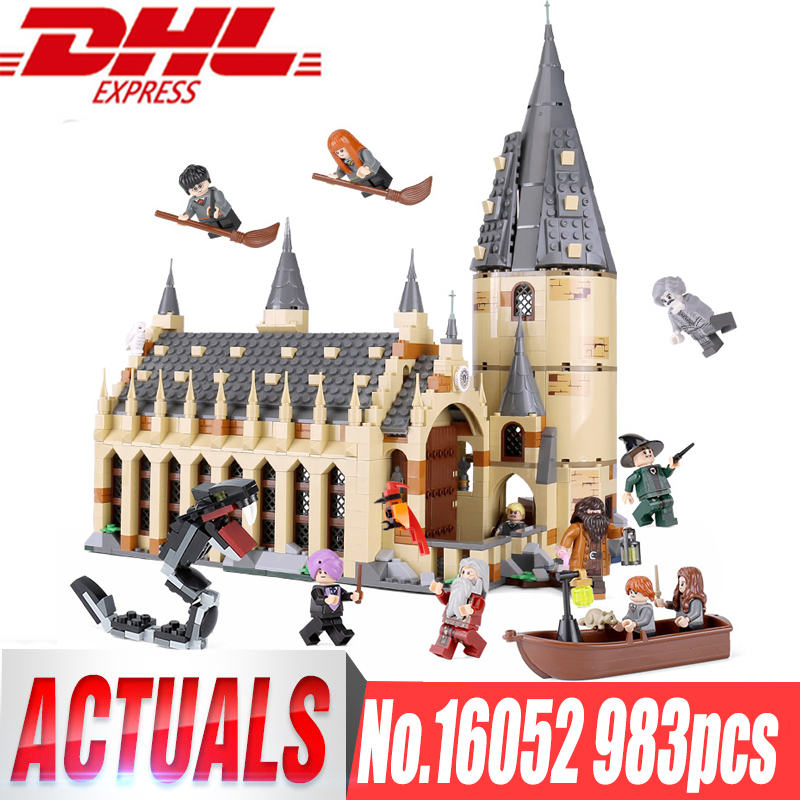 Lepin 16052 Harry Movie Potter legoings 75954 Hogwarts Castle Express Great Wall Set Building Blocks Kids Toys Christmas Gifts