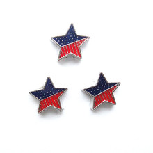 star flag charms , charms for memory locket , 20 pcs / lot , Free Shipping(China)