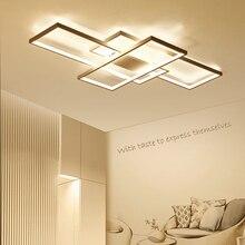 NEO gleam новый черный или белый Алюминий Современные светодиодные люстры для Гостиная Спальня кабинет AC85-265V Потолочная люстра