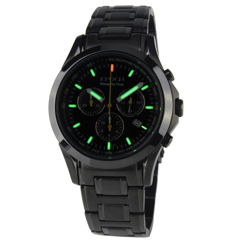EPOCH 6022G waterproof 100m tritium gas luminous triple window sport chronograph mens quartz font b watch