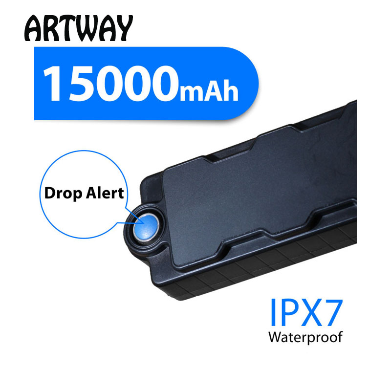 Strong Magnet Power Bank Hidden Gps Tracker For Cargo Vehicle Assets Boat Anti Theft Drop Alarm