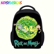 Cute Rick and morty Cartoon Backpack Boys Girls School Bags Hot Primary Backpacks School Supplies Sac A Dos mochila Bolsa plecak