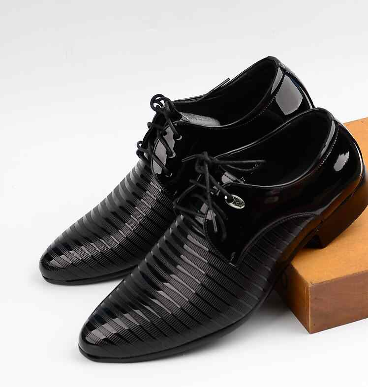 ... JOZIGBEMA New Classic Men Dress Shoes Style Man Leather Wedding Shoes  Social Sapato Male Oxfords Flat f42c1334749f