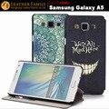 Оригинал Для Samsung Galaxy A5 чехол с окно флип печати кожаный чехол для Samsung Galaxy A5 SM-A500F A500H A500HQ A500K