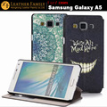 Original For Samsung Galaxy A5 case with window flip print leather cover for Samsung Galaxy A5 SM-A500F A500H A500HQ A500K