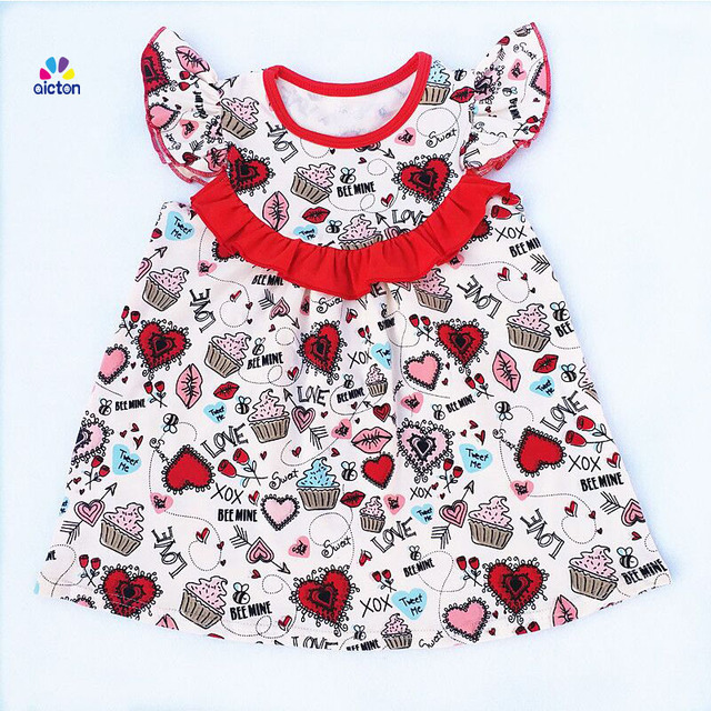 678f910e5142 AICTON 2018 Latest Design Baby Clothes Beautiful Children dresses ...
