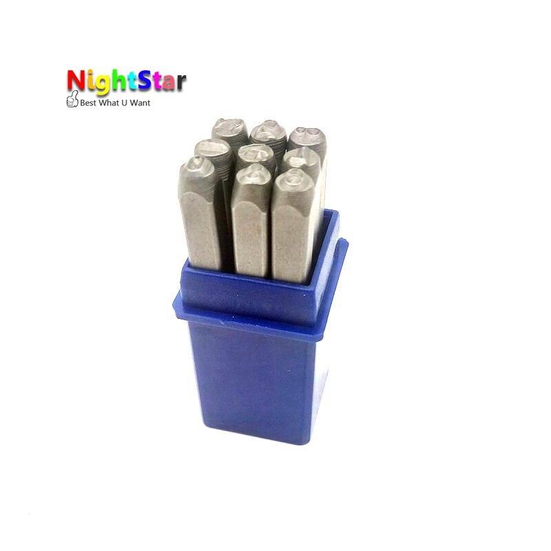 9pcs 4mm 6mm DIY Stamps Digital Punch Numbers Set Punch Steel Metal Die Tool Case Craft 5/32 Inch 1/4inch