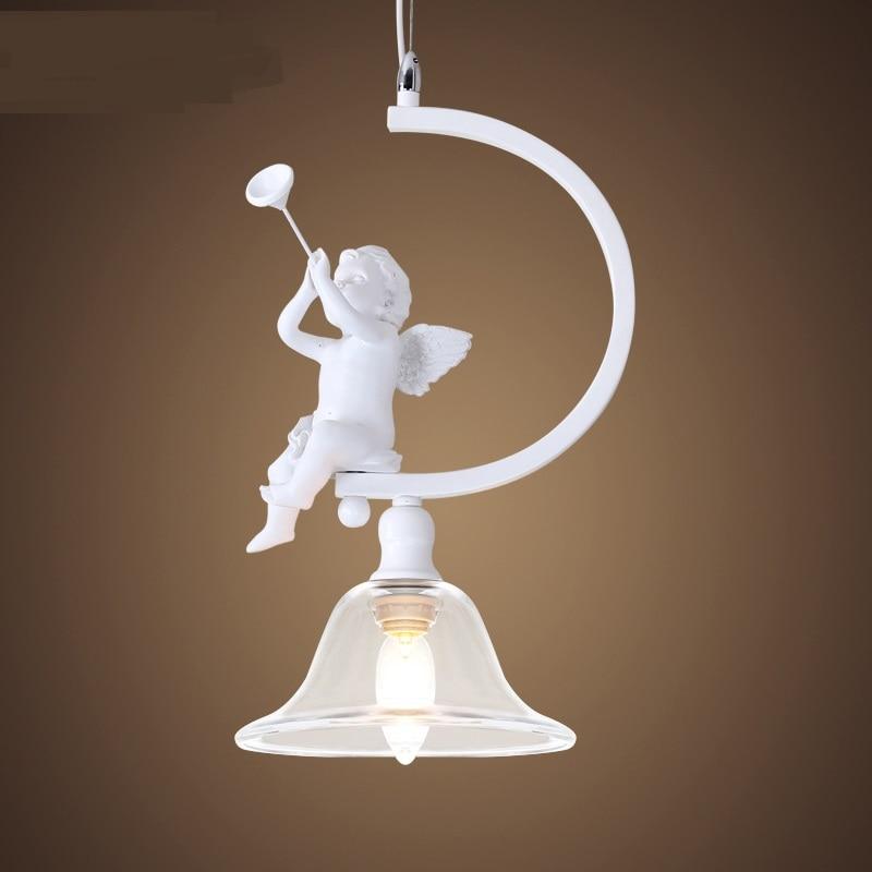 modern white little angel pendant lamps lighting bedroom lamp lighting Restaurant pendant light ZA103010 modern brief white pendant lamp personalized light restaurant modern pendant light lighting
