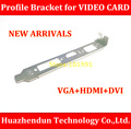 High Quality  NEW  Chassis  Bracket   with  VGA+HDMI+DVI  Slot    12CM   Profile  Bracket  for  Video  Card     1PCS/LOT