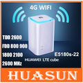 Original unlocked Huawei E5180 E5180s-22 4G LTE Cube 150Mbps 4G CPE wifi Router with VOIP