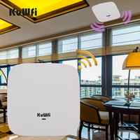 KuWFi Ceiling Mount Wireless Access Point, Dual Band Wireless Wi-Fi AP Router with 48V POE Long Range Wall Mount Ceiling Router