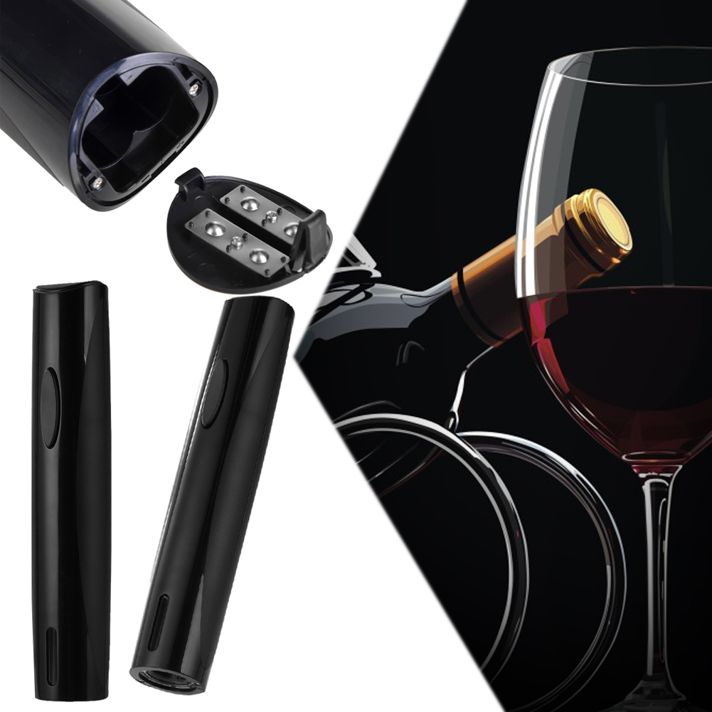 Black Wine Opener Electric Automatic Wine Corkscrew Bottle Opener Tool Foil Cutter 258 50 mm