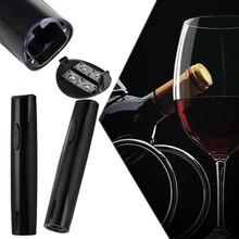Schwarz Wein Öffner Elektrische Automatische Wein Korkenzieher Flaschenöffner Werkzeug Folienschneider 258*50mm