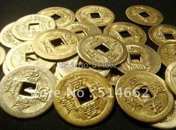 100 Goldene I Ging Messing Münzen Für Geld Glück Verbessern In 100