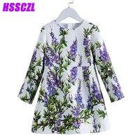 Girls Dresses Spring 2017 New Children S Clothing Long Sleeved Dress High End Brand Girl Floral