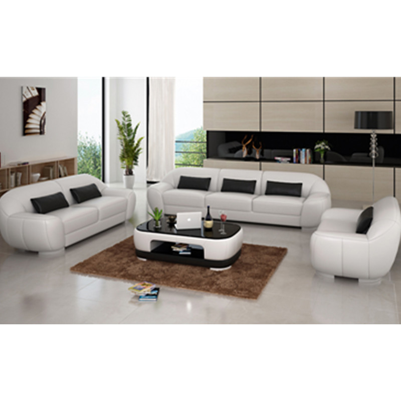 US $1299.0 |Ivory white 3 Piece Leather Modular Sofa used leather sofa-in  Living Room Sofas from Furniture on Aliexpress.com | Alibaba Group