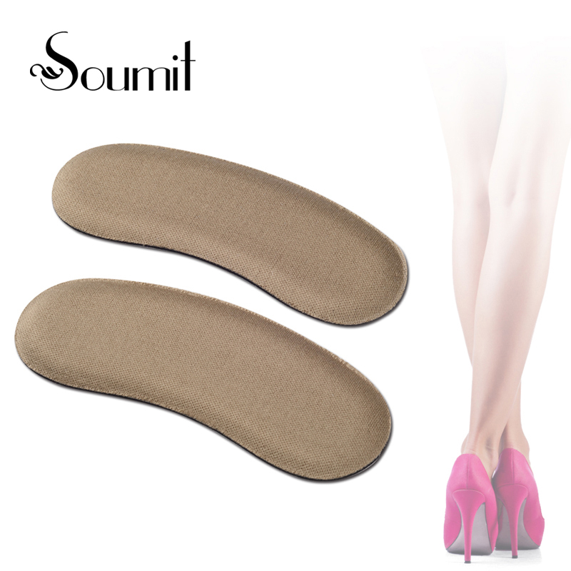 Soumit Quality Sponge Invisible Back Heel Pads for High Heel Shoes Grip Adhesive Liner Foot Care Cushion Protector Pads Insoles 2 pairs silicone gel insoles for shoes foot care cushion pads back heel inserts grip liner high heel protector