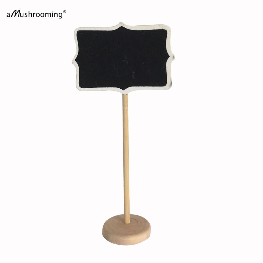 36x Wooden Framed Scroll Mini Chalkboard Signs On Stands
