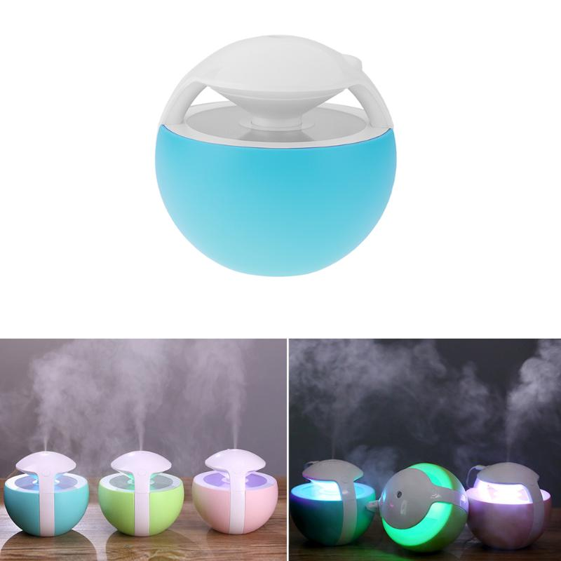 Mini Portable 400ml USB Powered Air LED Night Light Humidifier Home Office Car Air Purifier non-water protect mist maker portable home penguin humidifier mini night light usb humidifier air purifier