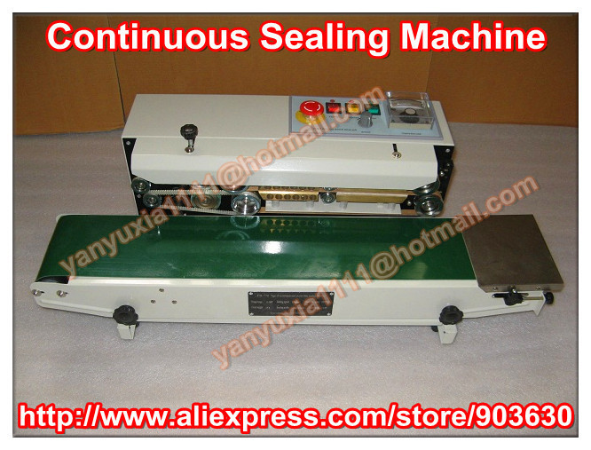 High Quality! Warranty 100% New 220V/110V Continuous Auto Heat  Plastic Bag Sealing Machine FR-770(sealing width:6-12mm) automatic bag sealing machines