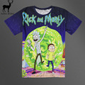 Aelfric Eden Rick y Morty camiseta Harajuku Hombres Impreso 3D de Dibujos Animados Anime Funny T-shirt de Manga Corta T-shirt
