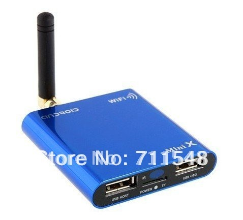 Free shipping Mini X Android TV Box 1G/4G Android iCS Allwinner A10 CPU 1080P 2160P Support Flash 10.3 HDMI 1080p HD Video