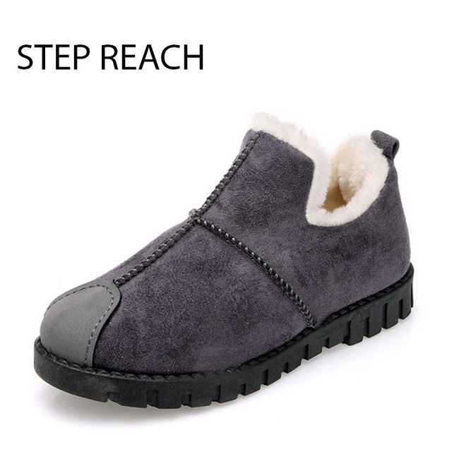 STEPREACH Marca sapatos de mulher botas de Neve de inverno mulheres zapatos mujer botas tornozelo schoenen vrouw scarpe donna adulto slip-on curto