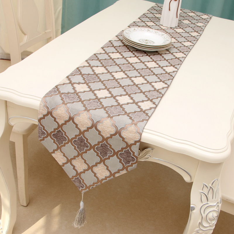 Europe Luxury Table Runner Chemin De Table Table Runners For Wedding Party Camino De Mesa Tafelloper Geometric Tablecloth Bed