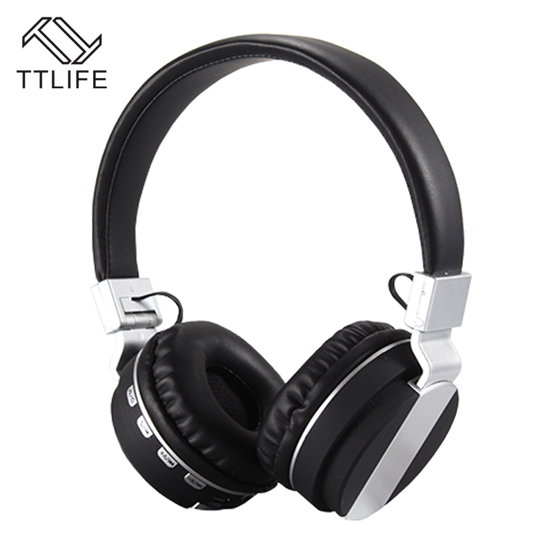 TTLIFE Orignal Foldable Bluetooth headphones Stereo Headsets earphone with Mic Support TF Card for iPhone xiaomi music phones 2017 ttlife mini wireless earphone bluetooth headsets airpods with mic 2 in 1 with car charger for iphone 7 xiaomi mobile phones