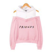 FRIENDS Printed Off-shoulder Hoodies Women TV Show I'll Be There for You Hoodie