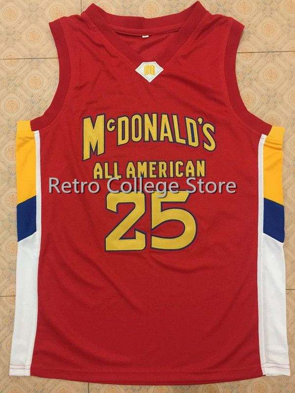 #25 DERRICK ROSE Dolphins McDonald ALL AMERICAN high quality basketball jersey Retro thr ...
