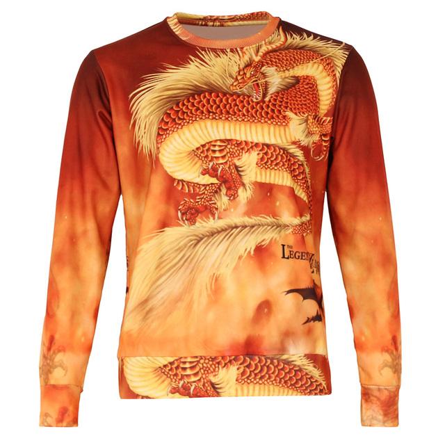 Los niños de nueva 3d impreso sudadera patrón de la pluma del dragón diseño clothing hoodies muchacha del muchacho 2017 otoño fleece pullover tops