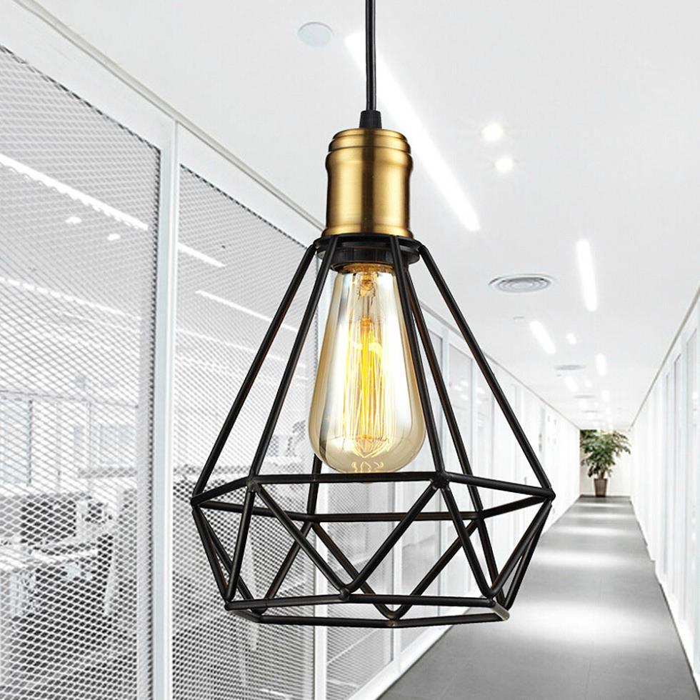 Led Hanglamp Ikea Us 143 91 Wrought Iron Chandeliers Pendant Lamps Ikea Living Room Lampada Industrial Classic Home Metal Cage Led Lighting Art Decor Abajur In