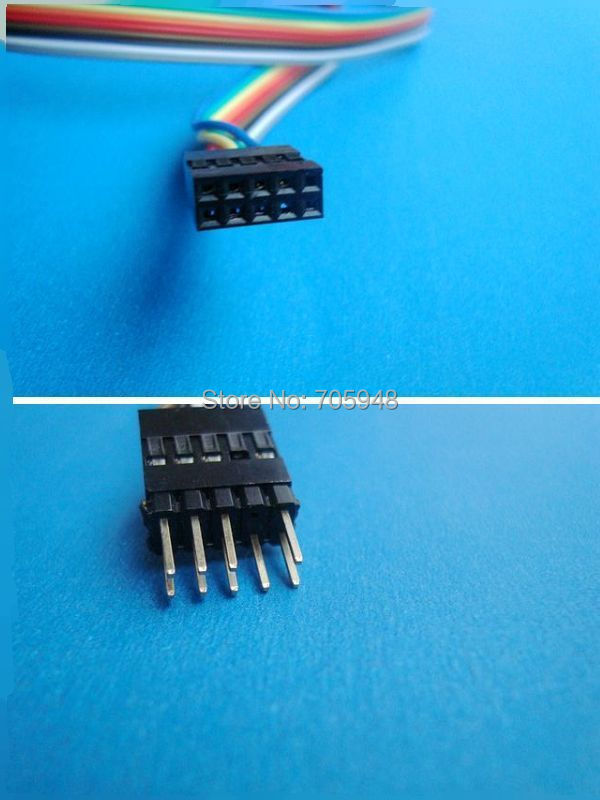 FREE SHIPPING Internal Motherboard HD AC97 audio 9pin male to female Extension extension Cable cord 60cm
