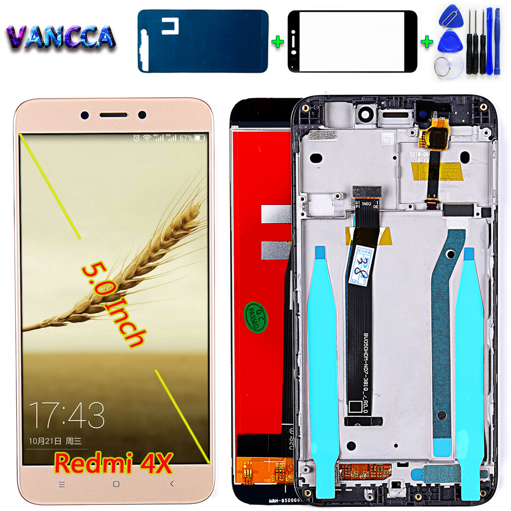 Vancca Lcd-Display Xiaomi Redmi Assembly-Frame Digitizer Touch-Screen for 4X 1280--720