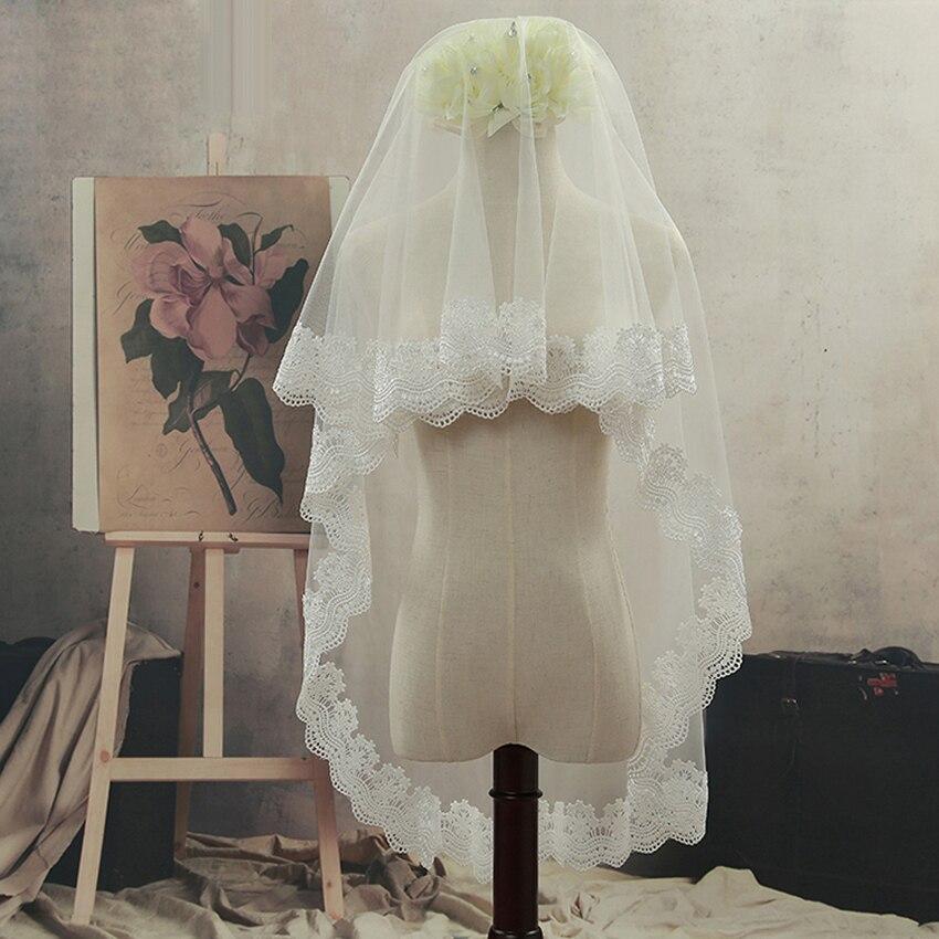 Styles Of Wedding Veils: 2018 New Arrive Fresh Style 1 Tier Bridal Veil Beautiful