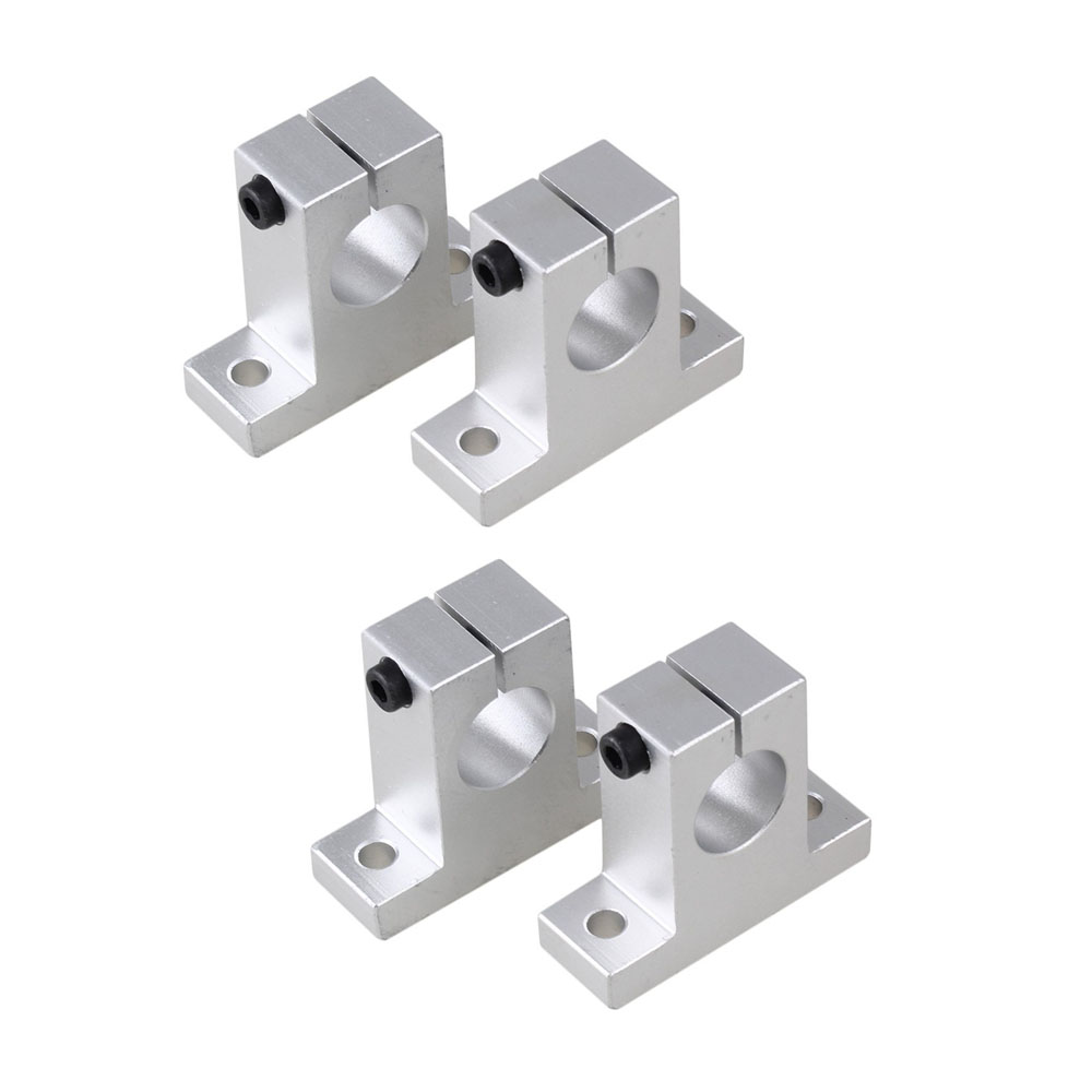 SK-20 20mm Shaft ID CNC Aluminum Rail Linear Motion Shaft Guide Support Pack of 4